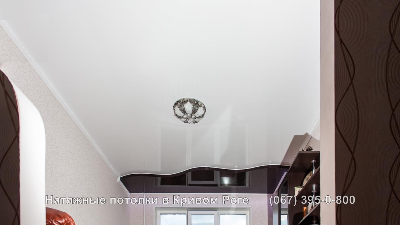 Двухуровневый натяжной потолок Кривой Рог