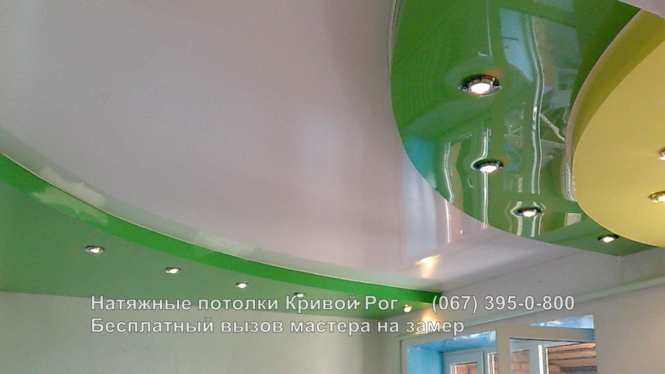 Двухуровневые натяжные потолки кривой Рог