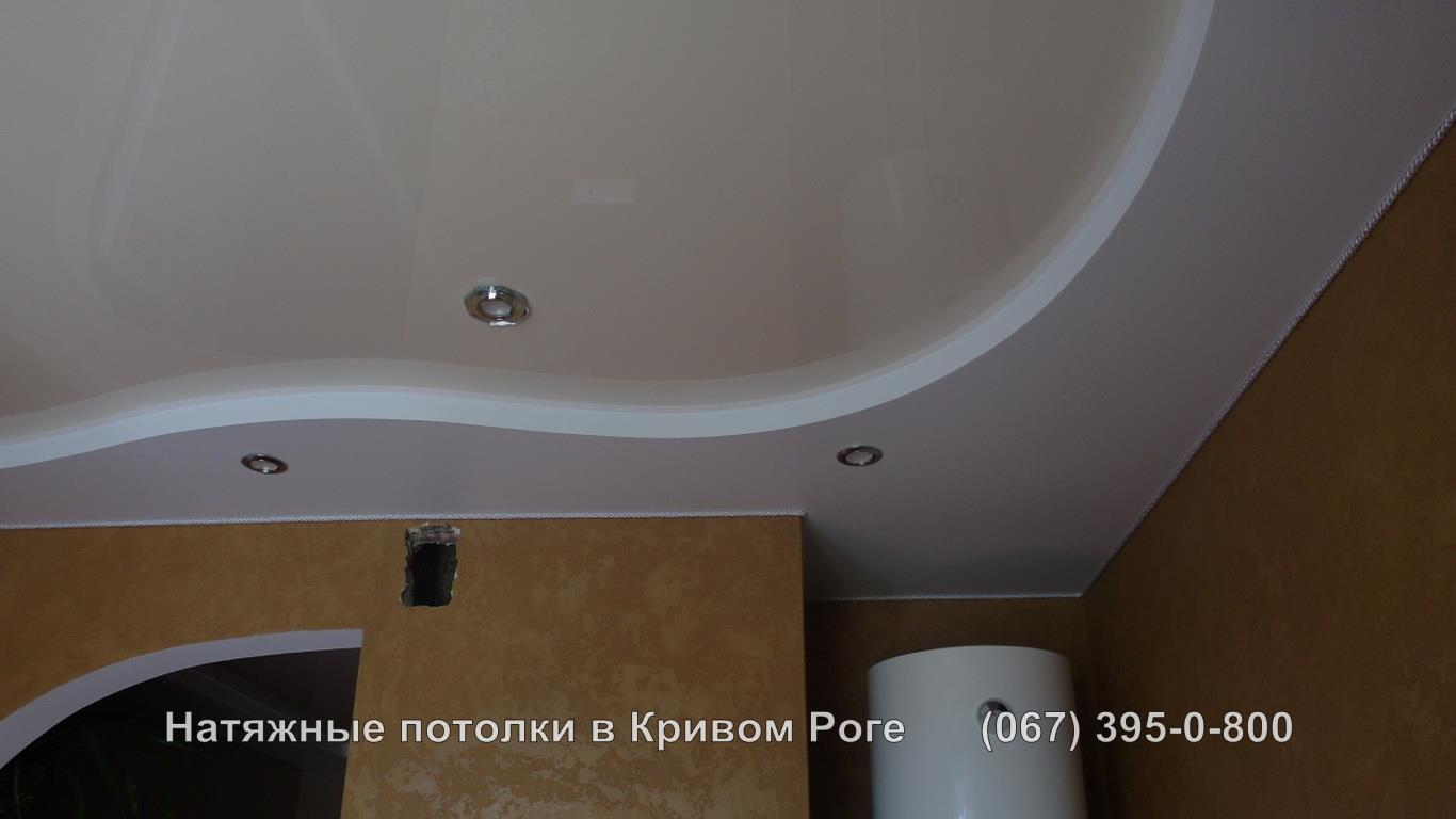 Двухуровневый натяжной потолок в кривом роге