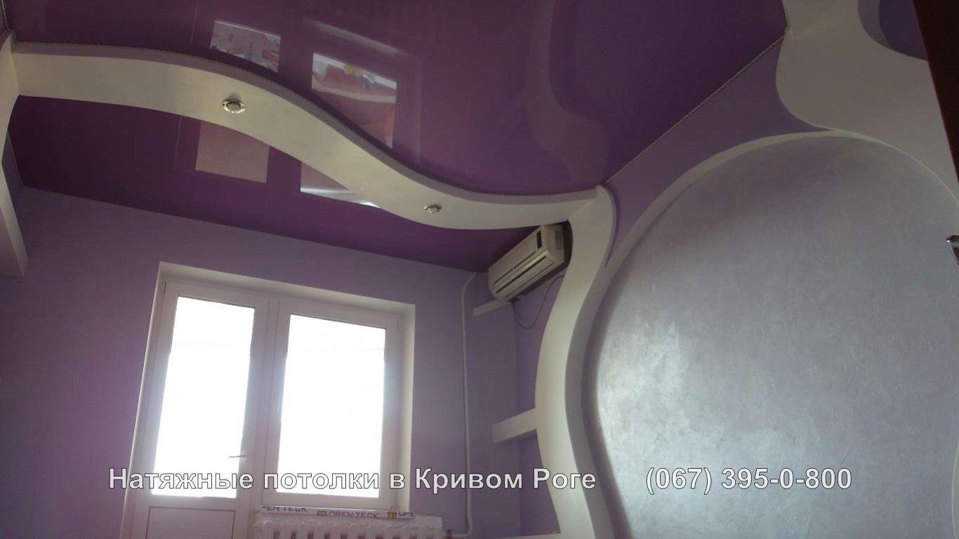 Сиреневые натяжные потолки в кривом роге