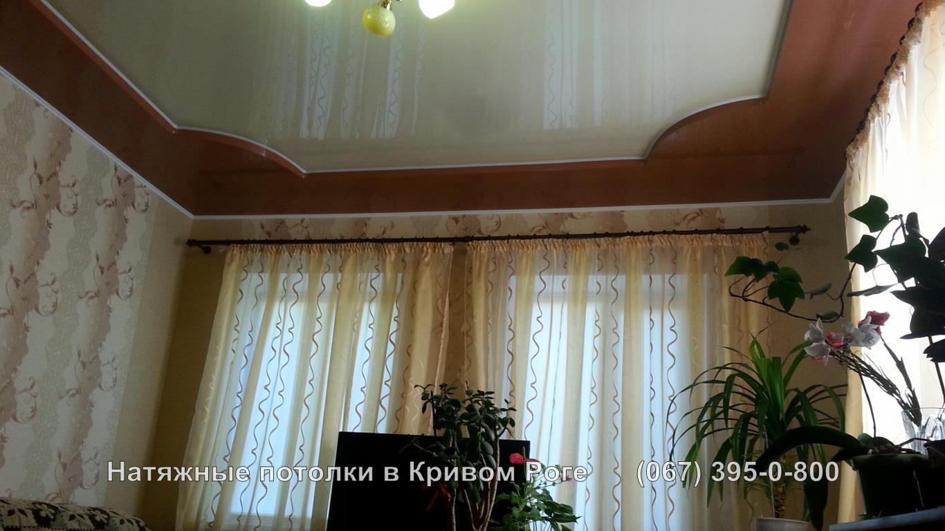 Двухуровневый натяжной потолок мастер кривой рог